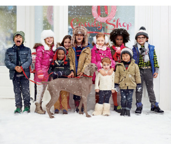 GapKids Holiday Collection features puffers, faux fur and plenty of sparkle for girls. (CNW Group/Gap Canada)
