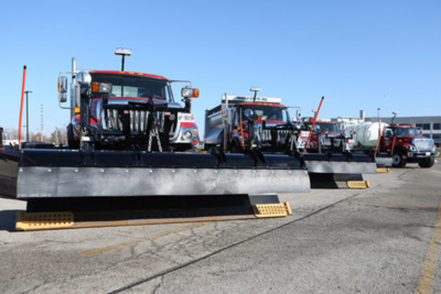 The City of Vaughan is ready to take on the harshest of winter weather with a trendsetting road maintenance contract and a brand new fleet of more than 100 vehicles. (CNW Group/City of Vaughan)
