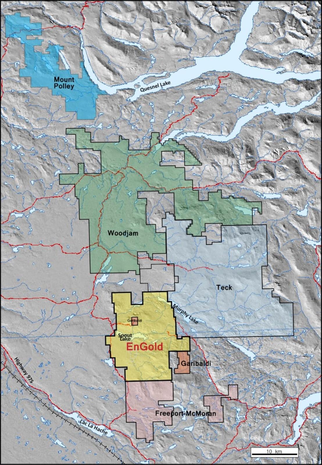 Lac La Hache Area Key Landholder Map