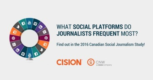 Find out more about journalism and social media in Cision's 2016 Canadian Social Journalism Study (CNW Group/CNW Group Ltd.)