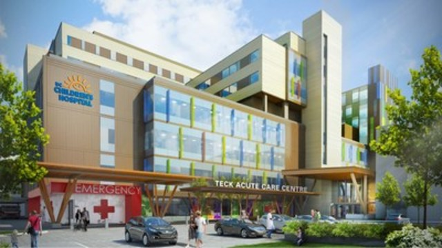 Teck Acute Care Centre (CNW Group/BC Children's Hospital Foundation)