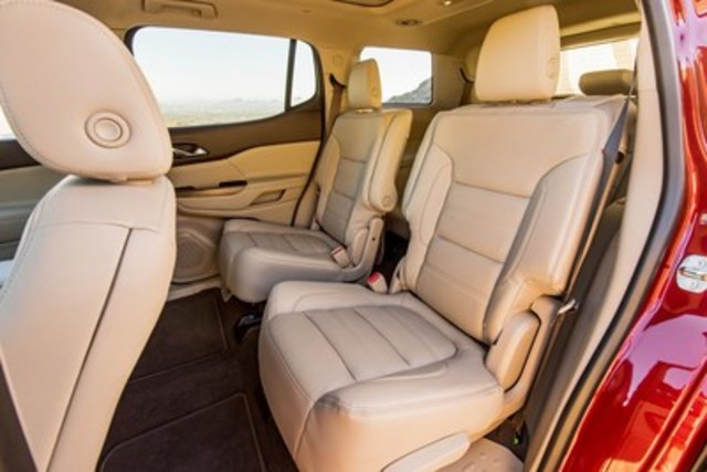 Pitch Slide and Tip Slide 2nd Row EZ Entry vehicle seats from Magna address the needs of SUV owners with easier accessibility and greater space flexibility. The seats release and move forward to maximize the opening for passengers to enter and exit the 3rd row of seats. (CNW Group/Magna International Inc.)