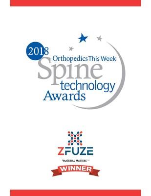 مادة زفيوز الحيوية من شركة ديفيوجن تفوز بجائزة تقنية العمود الفقري للعام 2018
