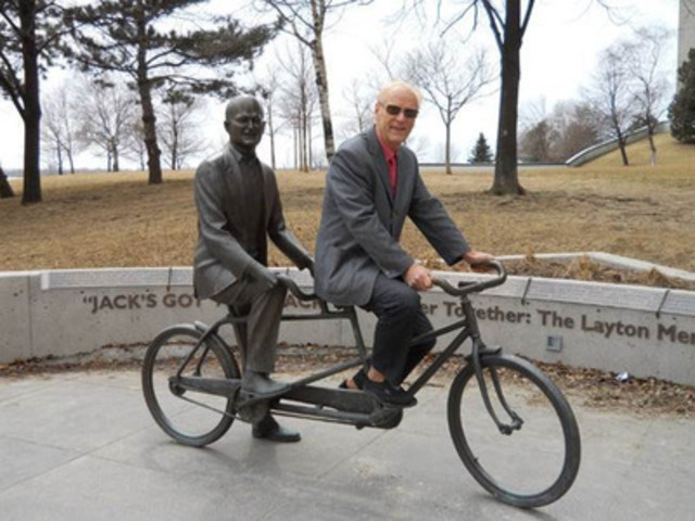 Fig 1: Jack might have your back, but Erwin has the vision to steer Toronto's future! (CNW Group/Mount Knowledge Inc.)