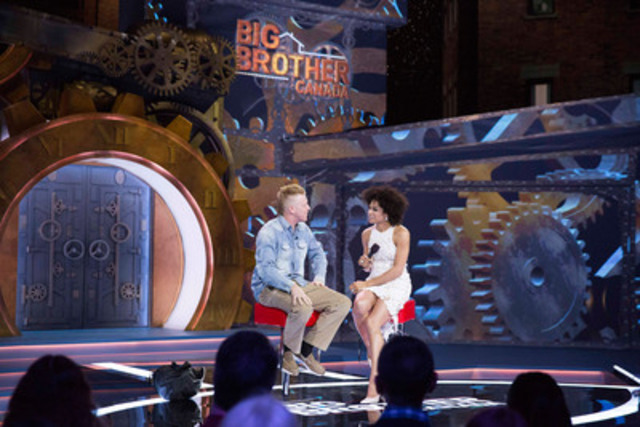 Graig Merritt exits the Big Brother Canada house. (CNW Group/Global Television)
