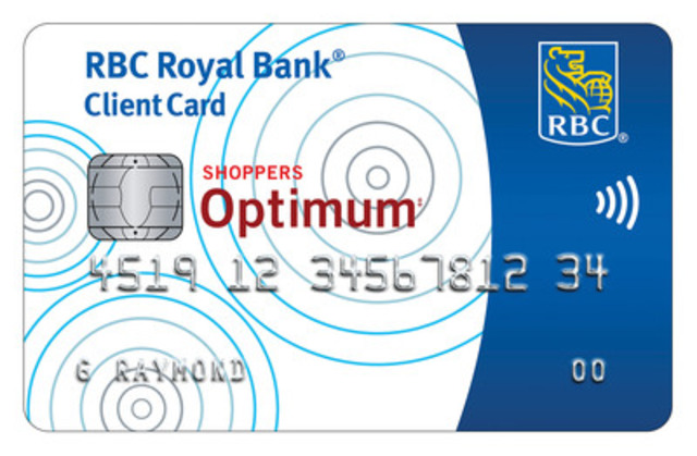 New RBC Shoppers Optimum Banking Account - Debit Card. (CNW Group/RBC)