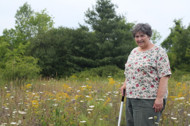 Trees Ontario Green Leader Patricia Harvey planted 50,000 trees on her Leeds Grenville County property (CNW Group/Trees Ontario)