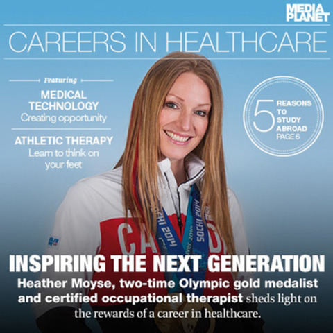 Careers in Healthcare: Inspiring action, Heather Moyse, two time Olympic gold medalist, engages Canadian youth to pursue a career in healthcare. (CNW Group/Mediaplanet Ltd)