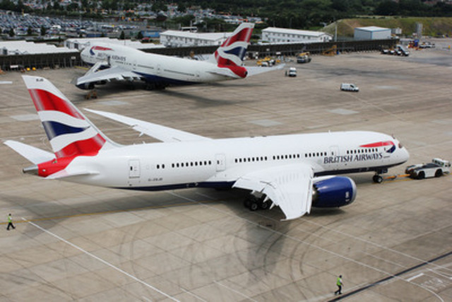 British Airways' Boeing 787 Dreamliner at London Heathrow (CNW Group/British Airways)