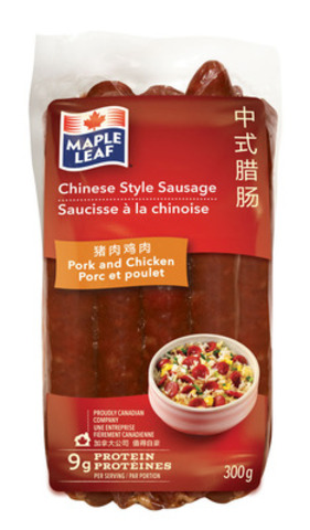 Chinese Style Sausage - Pork and Chicken (CNW Group/Maple Leaf Foods Inc.)