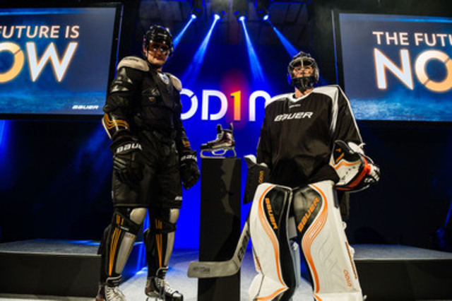 The BAUER OD1N product line is unveiled in Chicago. The gear provides a significant on-ice performance advantage that is scientifically proven. (CNW Group/BAUER HOCKEY, INC.)