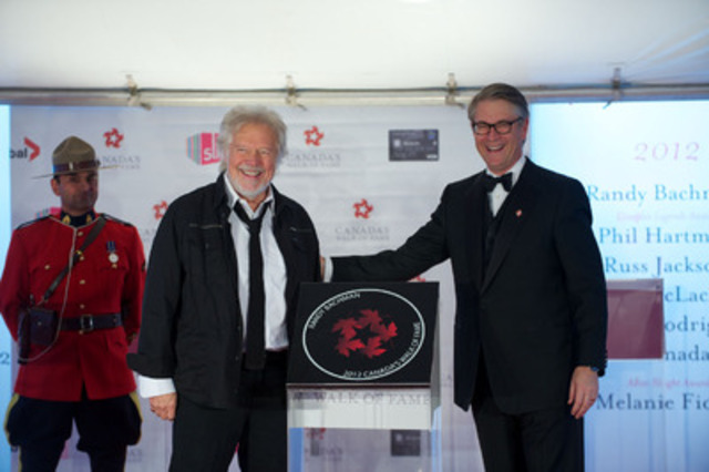 Randy Bachman receives his Canada's Walk of Fame induction at the Ed Mirvish Theatre in Toronto on Saturday, September 22, 2012. (CNW Group/Canada's Walk of Fame)