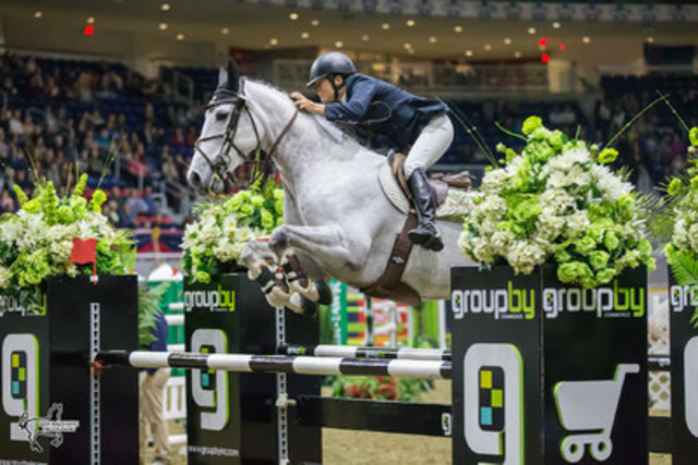 Leslie Howard opened international show jumping competition at the the CSI4*-W Royal Horse Show with a win in the $35,000 International Jumper Power and Speed riding Donna Speciale on Tuesday, November 8, in Toronto, ON. Photo by Ben Radvanyi Photography (CNW Group/Royal Agricultural Winter Fair)