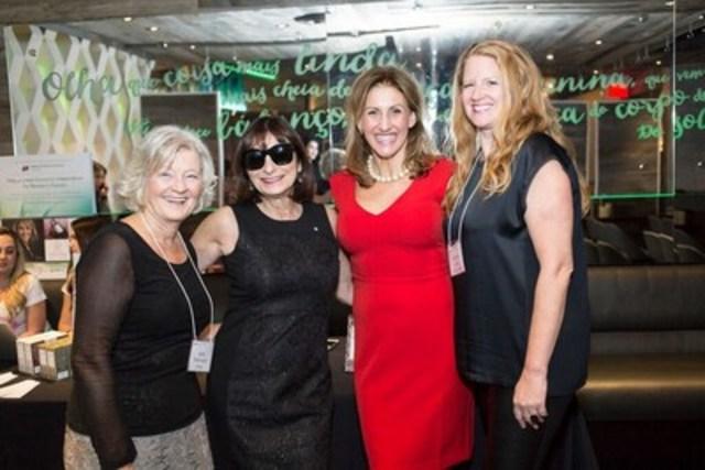 From left - Geri Markvoort, Chair Board of Directors; Jeanne Beker; Barb Stegemann; Andrea Elliott, Board of Directors (CNW Group/Dress for Success)