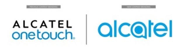 L'ancien logo d'alcatel (à gauche) comparé au nouveau logo de la société dévoilé au Mobile World Congress de 2016 (à droite) (Groupe CNW/Alcatel)