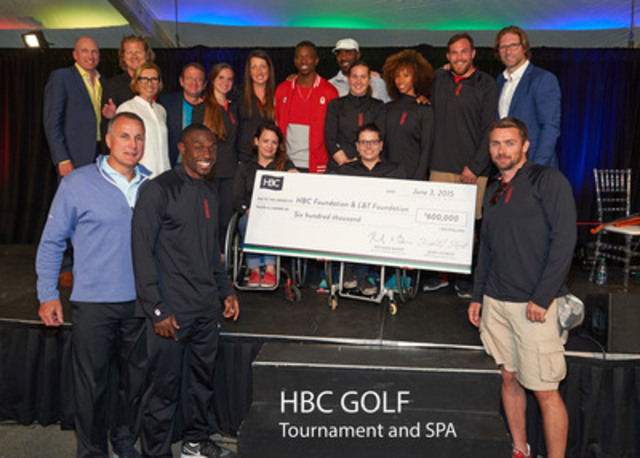 Hudson's Bay Company Swings Big at Charity Golf Tournament and Spa to Raise more than $600,000 for its Foundation Beneficiaries (CNW Group/Hudson's Bay)