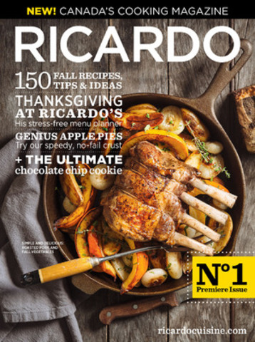 Ricardo Magazine: Canada's new cooking magazine (CNW Group/Ricardo Media)