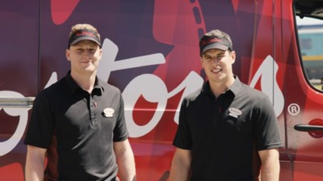 Sidney Crosby and Nathan MacKinnon team up with Tim Hortons to hit the road making a surprise Tims Run™ in a three-part video series now available on Tim Hortons' YouTube channel, YouTube.com/timhortons (CNW Group/Tim Hortons)