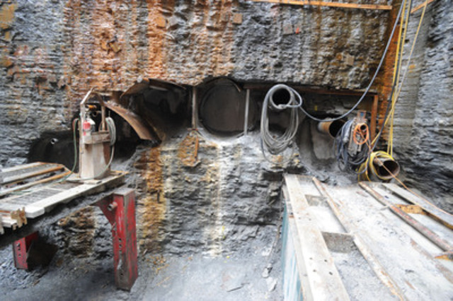 Completed drifts that will form the crown of the tunnel to Billy Bishop Toronto City Airport (CNW Group/Toronto Port Authority)