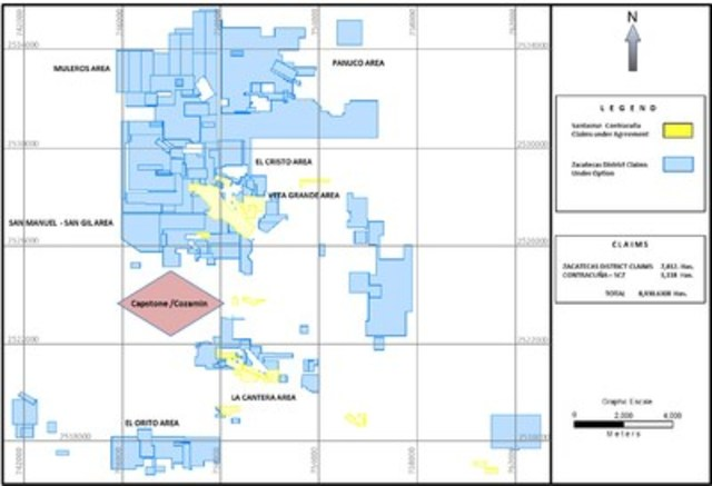 Figure 1. (CNW Group/SantaCruz Silver Mining Ltd.)