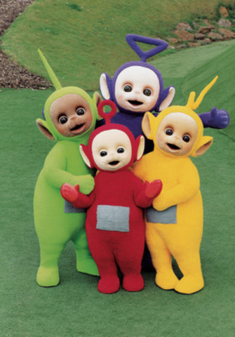 Canada's DHX Media (TSX:DHX) today announced plans to produce 60 brand new episodes for its iconic children's television property, Teletubbies, for CBeebies in the UK. Teletubbies characters shown: Dipsy (green), Tinky Winky (purple), Laa-Laa (yellow), and Po (red). (CNW Group/DHX Media Ltd.)