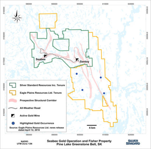 Figure 1: Location of the Seabee Gold Operation and the Fisher project, Saskatchewan, Canada. (CNW Group/Silver Standard Resources Inc.)