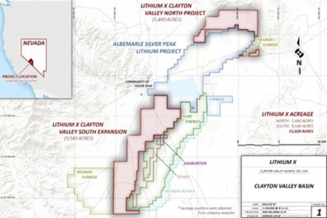 Figure 1: Lithium X Clayton Valley Project (CNW Group/Lithium X Energy Corp.)