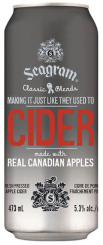 Seagram Cider (CNW Group/Brick Brewing Co. Limited)