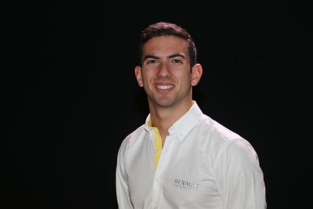Le Canadien Nicholas Latifi, nouveau pilote d'essai de Renault Sport Formula One Team. (Groupe CNW/Latrus Racing Corp.)