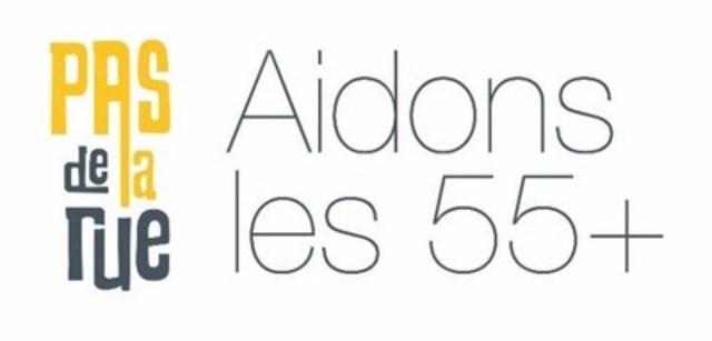 Logo : Le PAS de la rue - Aidons les 55+ (Groupe CNW/Le PAS de la rue)