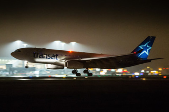 "Air Transat Flight TS8503 landed in Montreal early in the evening of December 23, arriving from Amman, Jordan, with 304 Syrian refugees aboard. This is the first flight operated to Montreal by an airline company as part of a major operation to bring some 25,000 refugees to Canada at the initiative of the Canadian government. ""We are very pleased to be assisting the Canadian government and international authorities,"" said Jean-François Lemay, General Manager of Air Transat. (CNW Group/Transat A.T. Inc.)"