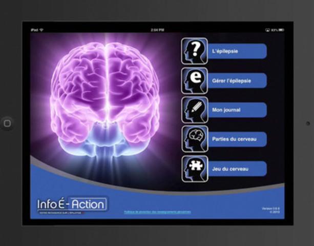 Application vidéo et plus : Info É-Action(MD), une application mobile pour iPhones, iPads et iPod Touch conçue pour sensibiliser les canadiens et les personnes vivants avec l'épilepsie, est maintenant disponible dans le App Store de Apple. (Groupe CNW/UCB Canada Inc.)