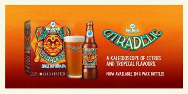 Big Rock Brewery's Citradelic, Single Hop Citra IPA (CNW Group/Big Rock Brewery Inc.)