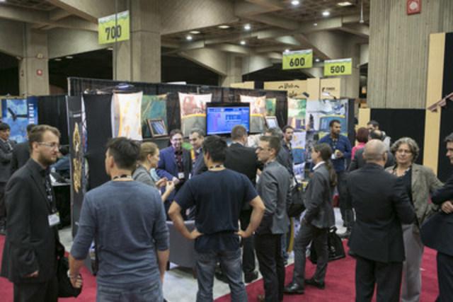 Xplor 2015 - Plancher d'exposition (Groupe CNW/Association de l'exploration minière du Québec (AEMQ))