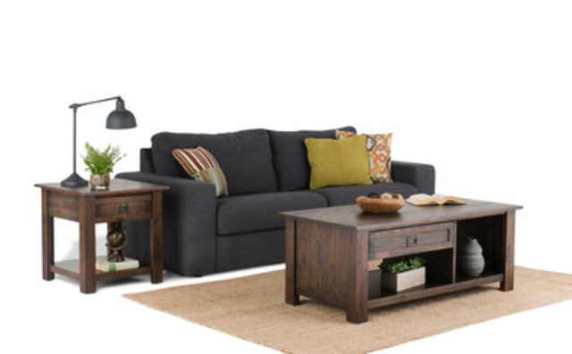 Simpli Home creates furniture for a wide spectrum of styles.  Always made from solid wood.. or best upholstered materials. (CNW Group/CCT Global Sourcing Inc)