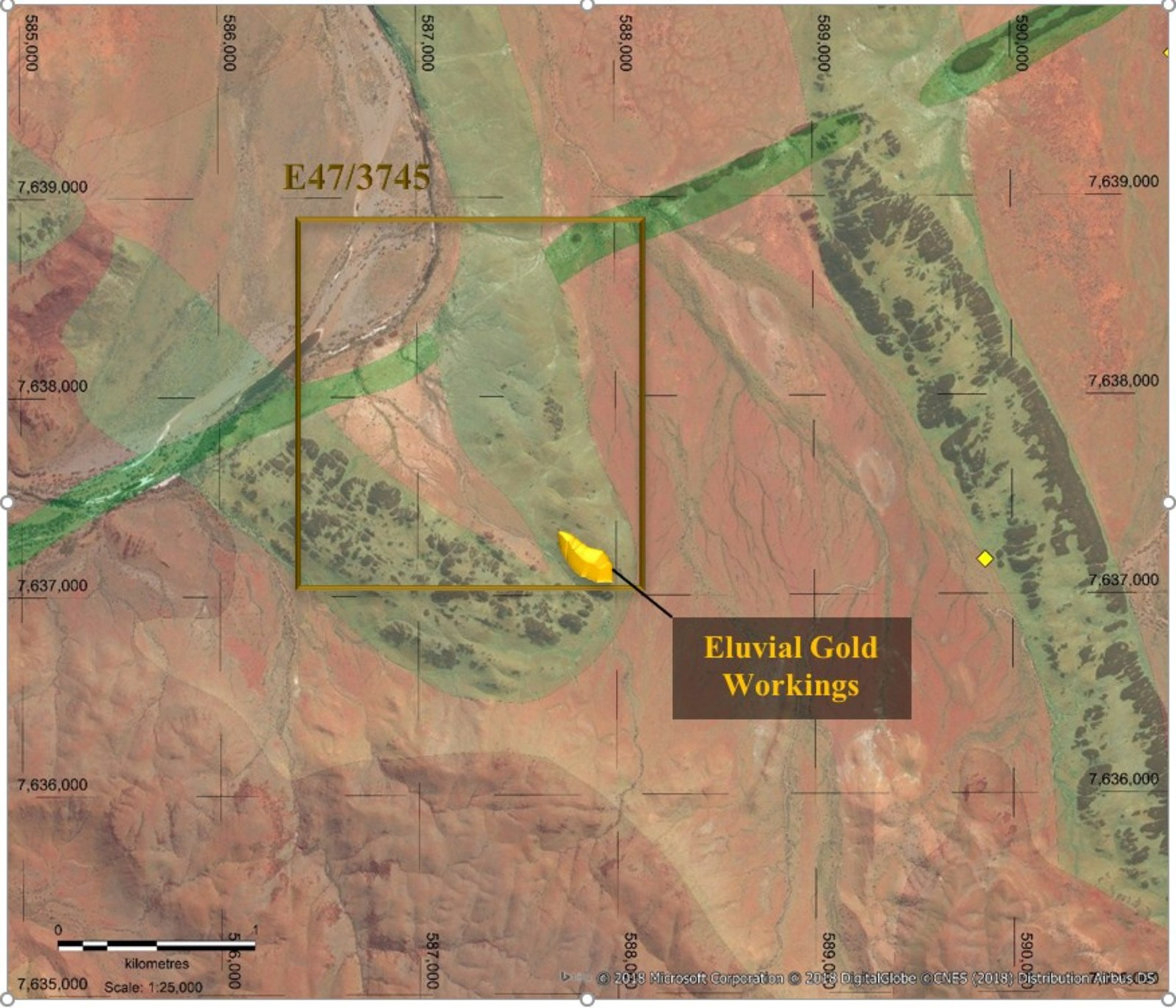 Figure 1. Tardarinna Project - Project Geology & Historical Mining