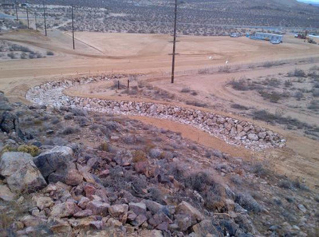 Photograph 3 - Rip-rap lined channel (CNW Group/Golden Queen Mining Co. Ltd.)