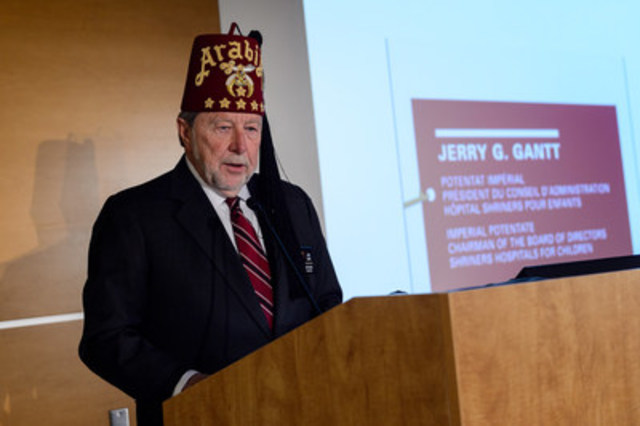 Imperial Potentate Jerry G. Gantt, President of the Board of Directors Shriners Hosptals for Children (CNW Group/Shriners Hospitals For Children)