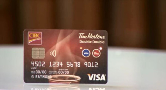 CIBC and Tim Hortons today launched the innovative new CIBC Tim Hortons Double Double Visa Card, leveraging a first of its kind two-button technology that combines a no annual fee CIBC Visa credit card with a classic Tim Card.