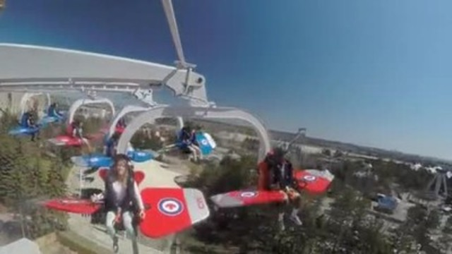 VIDEO: Take flight with Canada's Wonderland's new thrill ride, Skyhawk