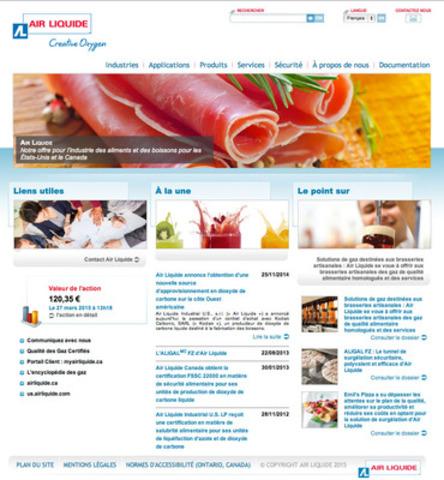 L'offre d'Air Liquide Canada pour l'industrie des aliments et des boissons (Groupe CNW/Air Liquide Canada)