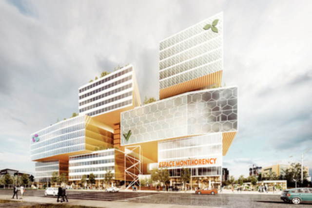 Espace Montmorency à Laval : un projet Fonds de solidarité FTQ, MONTONI et Claridge (crédit : Sid Lee Architecture) (Groupe CNW/Fonds de solidarité FTQ)