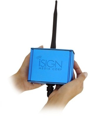 iSIGN Smart Antenna (CNW Group/iSIGN Media Corp)