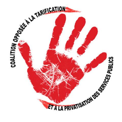 Logo: Coalition Main Rouge (Groupe CNW/Coalition opposée à la tarification et à la privatisation des services publics)