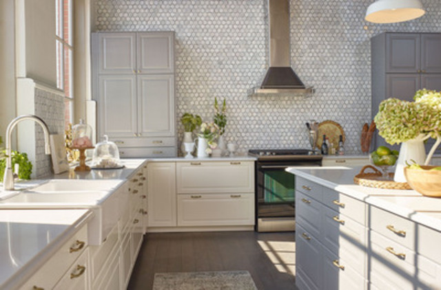 New IKEA SEKTION kitchen designed for Jillian Harris at IKEA's House of Kitchens (CNW Group/IKEA Canada)