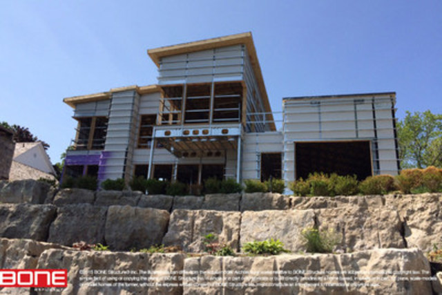 2015 - BONE Structure is currently assembling a home in Niagara-on-the-Lake, ON (CNW Group/BONE Structure)