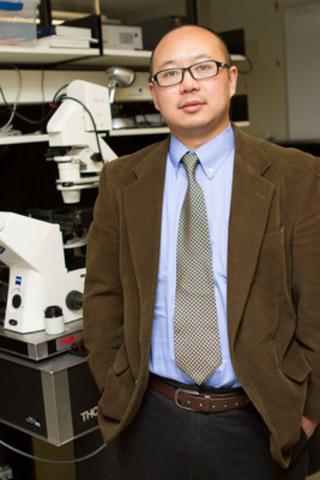Le Dr Qiyin Fang et son équipe de recherche sont les premiers à avoir mis au point une nouvelle méthode d'examen du côlon que l'on peut comparer à « Street View » de Google, permettant d'avoir une vue panoramique du côlon et de situer avec exactitude les polypes et lésions suspects. (Groupe CNW/Société canadienne du cancer (Bureau National))