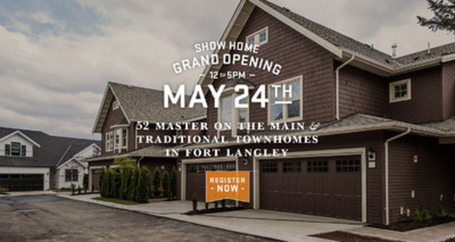 Grand Occasion: Final Release, Fort Langley Homes (CNW Group/Jelly Marketing Inc.)