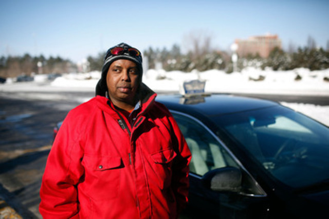 Abdi Mohamed is a taxi driver in Ottawa who was violently assaulted on the job.  (CNW Group/Cole Burston)