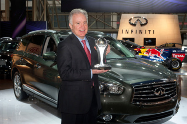 Today at the Canadian International Auto Show, Allen Childs, President of Nissan Canada, accepted three ALG Canadian Residual Value Awards for Infiniti Canada including Best Luxury Brand. (CNW Group/Infiniti)